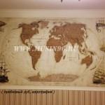 Карта мира 3 (пробковый дуб)